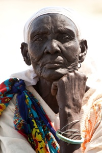 elderly woman, southern Sudan