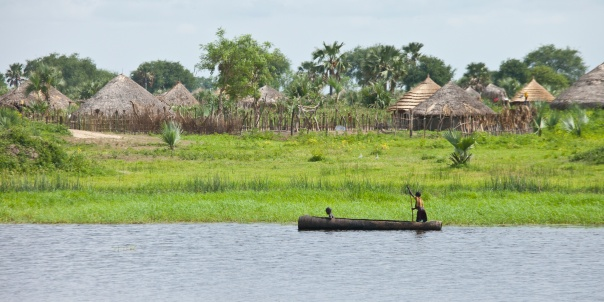 Typical homes in South Sudan