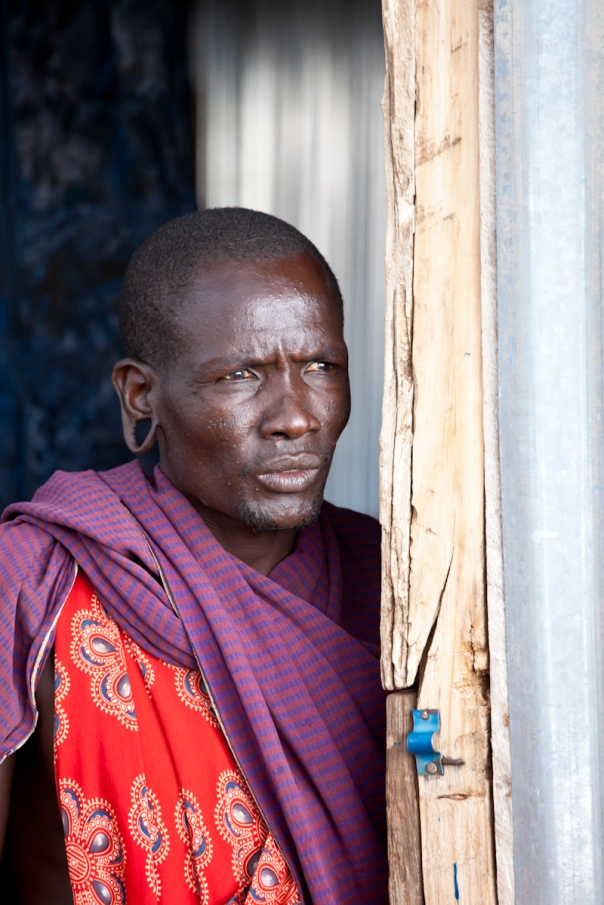 A Maasai man in Kenya