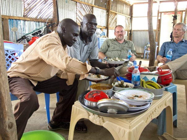 Peter and Joseph in South Sudan.