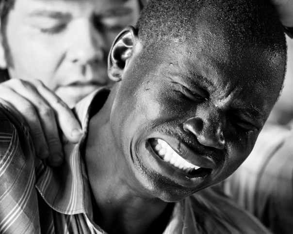 A South Sudanese pastor weeps in prayer as he prays that God would make him in private the man he claims to be in public.