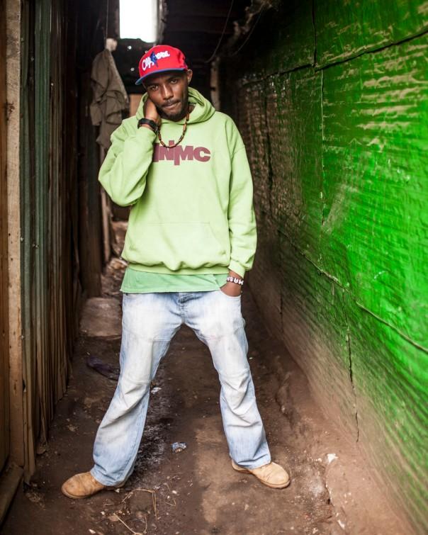 Machar, a rapper in Kibera