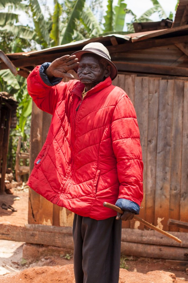 Our sponsor child's grandfather giving respect as we leave