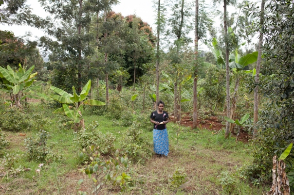 Faith's mother on their small farm.