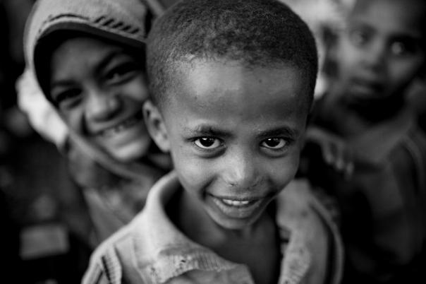 Children in the village of Gojo.