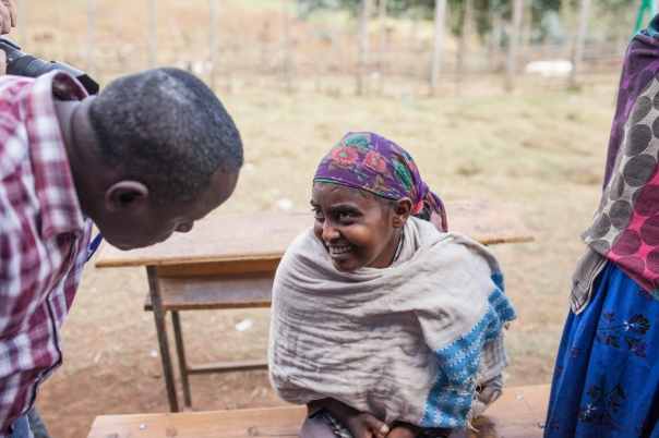 A woman who received her sight back after two years of blindness while I was in Ethiopia.