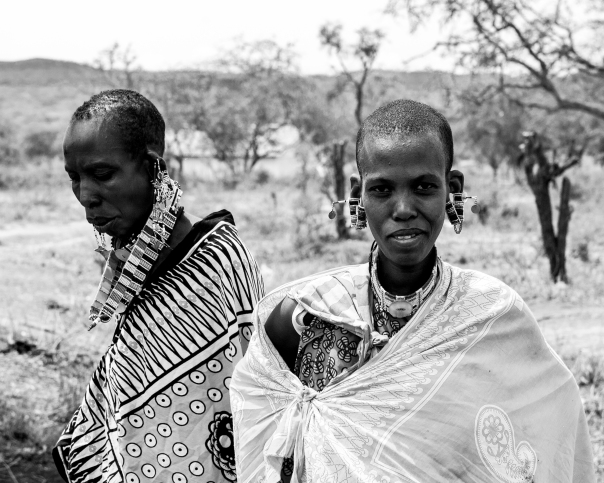 Two Maasai women near Bisil, Kenya.