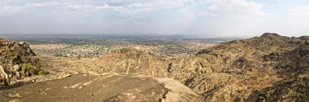 View of Juba, South Sudan from the top of Jebel Kujur