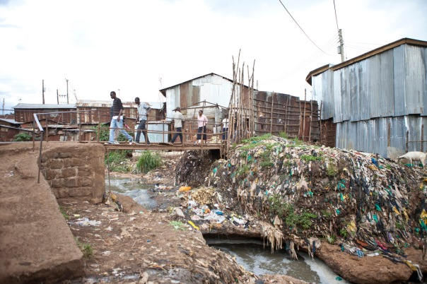 Kibera, the largest slum in Africa and the third largest in the world.