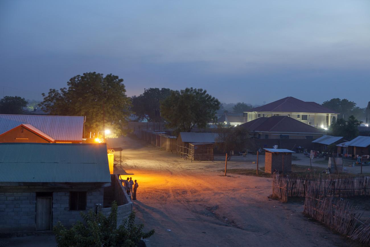 Juba, capital of South Sudan at night