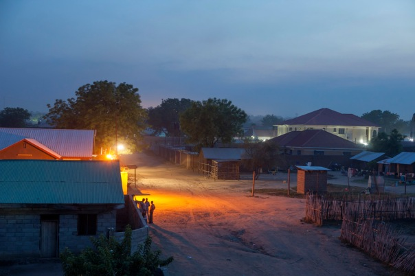 Juba, capital of South Sudan at night