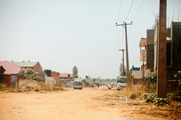 street scene in Juba, capital of South Sudan