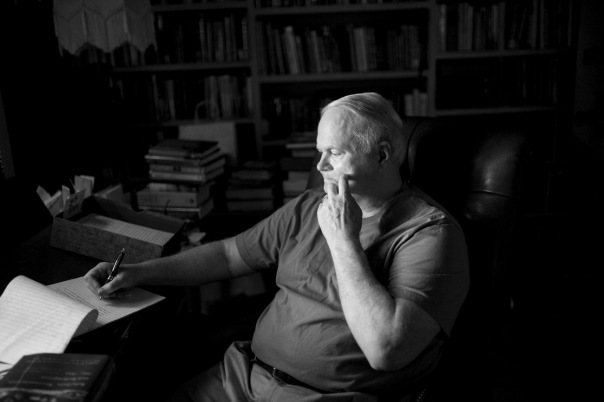 Author Pat Conroy in this environmental portrait in his home.